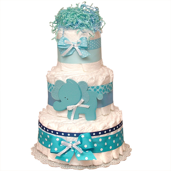 Diaper Cake Decoration New Elephant LRG jpg